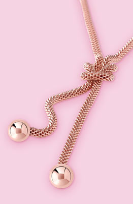 Collier Acier rose Collection capsule Enlace-moi