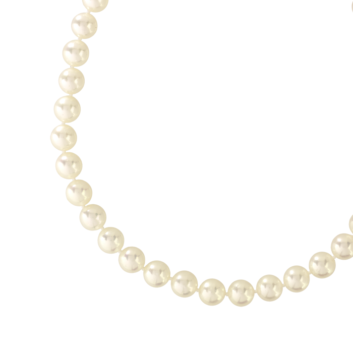 COLLIER or 750 jaune et perles de culture du Japon