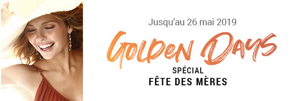 Golden days :-30% sur l'or avec le code FORMOM