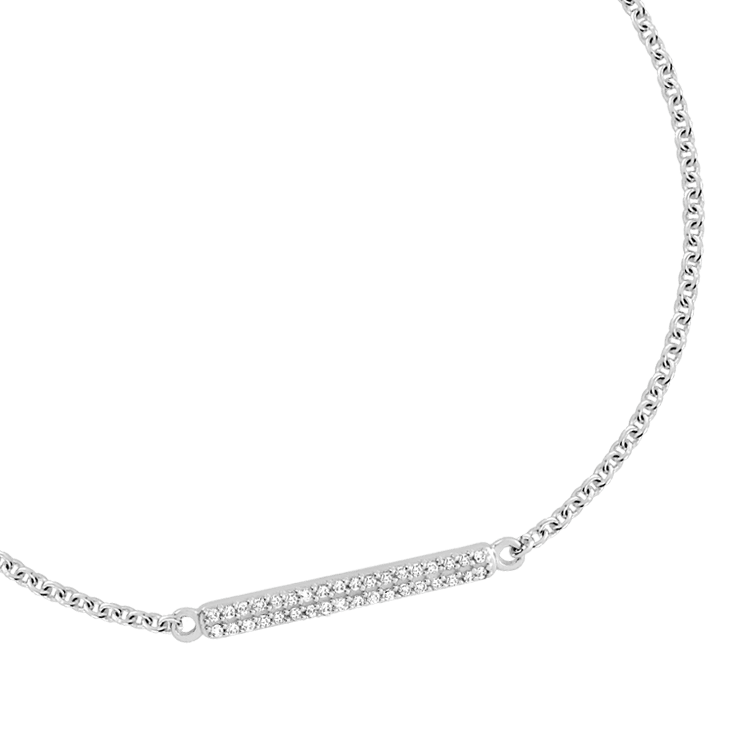BRACELET en or blanc 375 et 36 diamants