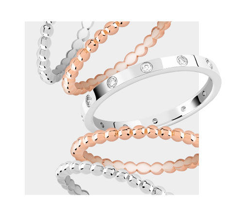 Mixy Rings luxe et fantaisie