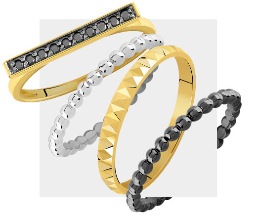 Mixy Rings Noir