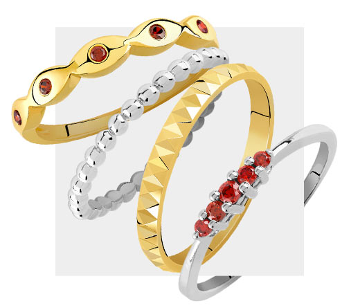 Mixy Rings Rouge