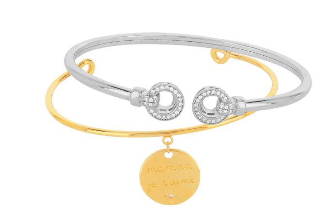 4X Fashion femmes plaqué or manchette Bracelet Set Bangle Chaîne Bracelet Bijoux D