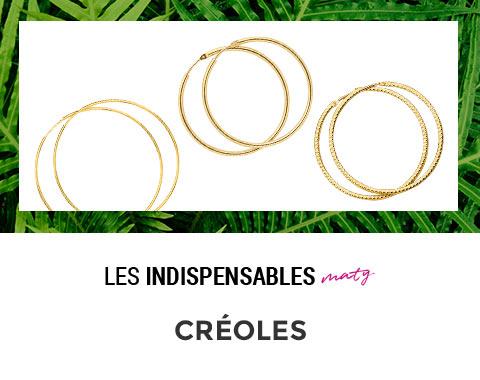 super pas cher Bons prix grande variété de modèles Créoles MATY - Boucles d'oreilles | MATY